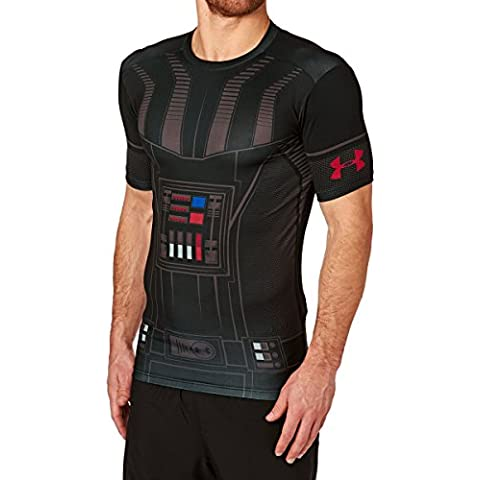 Under Armour Vader Full Suit Compression Short Sleeve Shirt black-red