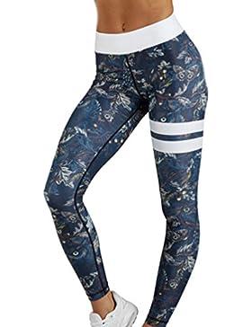 Yujeet Mujer Verano Elastico Fitness Yoga Leggings Impresión Deportivas Running Yoga Pantalones
