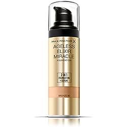 Max Factor Ageless Elixir Miracle Base de Maquillaje Tono 80 Bronze - 62 gr