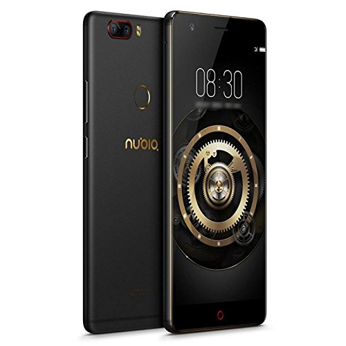 'ZTE Nubia Z17Lite Version internationale Display 5,5, FHD, 6GB + 64GB, Dual-Kamera 13.0MP + 13.0MP und Selfie Kamera 16.0MP, Black Gold