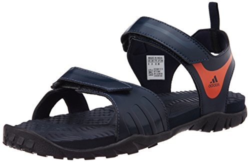 adidas Men's Escape 2.0 Dark Blue, Orange and Black Sandals and Floaters - 11 UK  available at amazon for Rs.1679