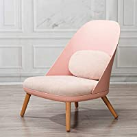 Sofa chair,fabric relaxing chair,leisure sofa,single seat for living room or bed room home office furniture (Rose pink)