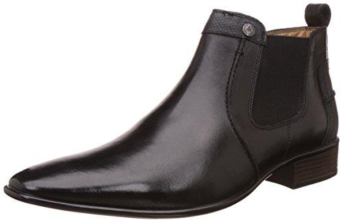 Alberto Torresi Men's Niccolo Black Leather Boots - 8 Uk/india (42 Eu)