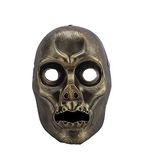 QWhing Festival-Maske Halloween Maske Film Thema Maske Harry Potter Todesser Harz dekorative Maske Kostüm ()