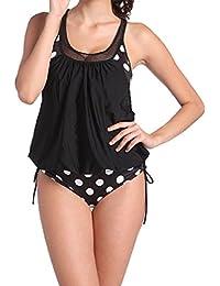 Gigi vacíos de Tankini con slip Bikini Set Bañador Figura Optimizer plano vientre