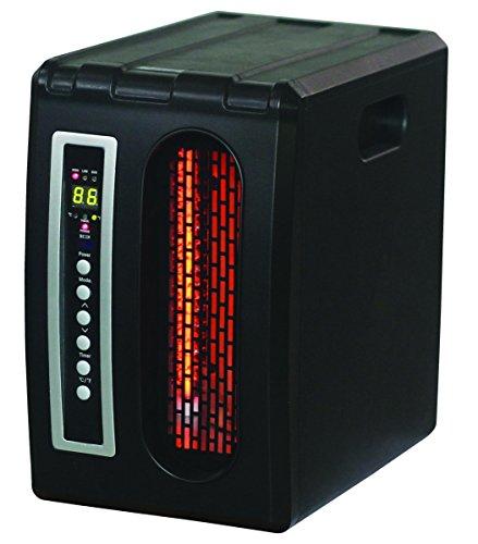 World marketing of America qde1320 sol, table 1500 W Noir infrarouge – Radiateur infrarouge, infrarouge, noir, boutons, électrique, 1500 W)