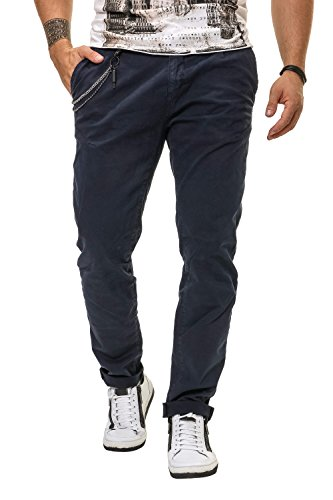 Antony Morato Herren Chinohose Hose Chinos Slim Fit Stretch Loud Blu