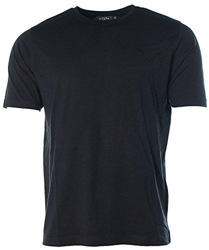 Kitaro Herren Kurzarm Shirt T-Shirt Rundhals Black