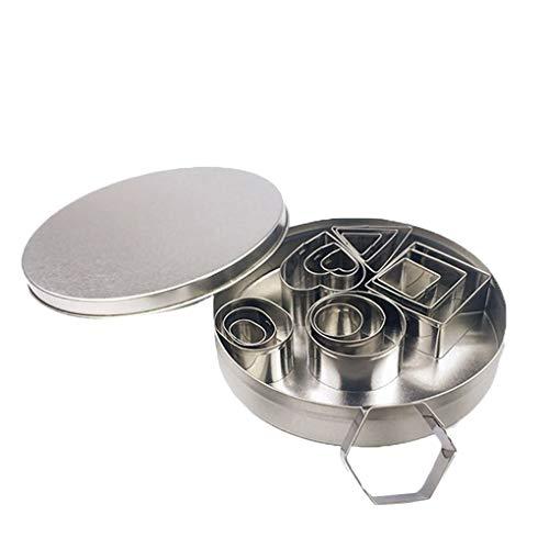 430 Coupe (PRENKIN 24X 430 Edelstahl Kuchen Mousse Formen Stellen Geometric Shap Kleine Backformen Kit Küchenwerkzeug)