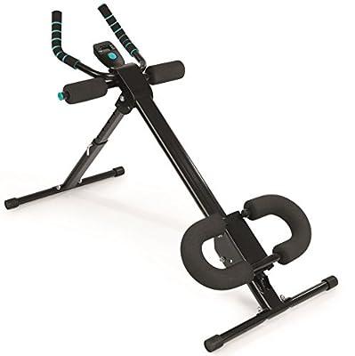 VITALmaxx 5 Trainingsgerät | Professioneller Bauchtrainer & Fitnessgerät Für Den Gesamten Körper | Muskeltrainer Platzsparend Klappbar | AB Trainer Für Krafttraining & Ausdauertraining | Schwarz