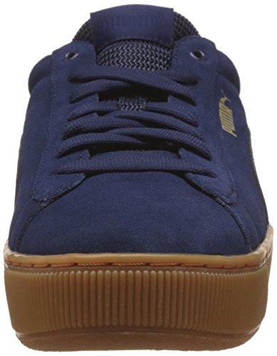 Puma Puma Vikky Platform, Sneakers basses femme Bleu (Peacoat-peacoat 02)