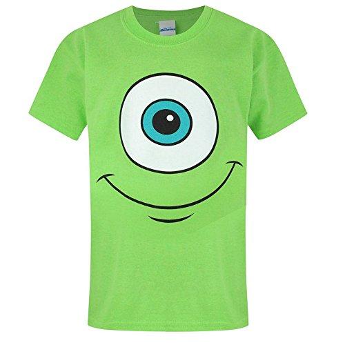 Monster Inc Jungen Mike Wazowski Gesicht T-Shirt (Jahre (9/10)) (Bright (Inc Monsters Shirt T)