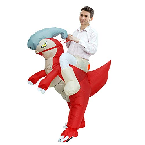 LOVEPET Aufblasbare Erwachsene Dinosaurier Kostüm Cartoon Puppe Reiten Tier Kostüm Halloween Party Requisiten Maskerade Kostüm (Reiten Dinosaurier Kostüm Aufblasbare)