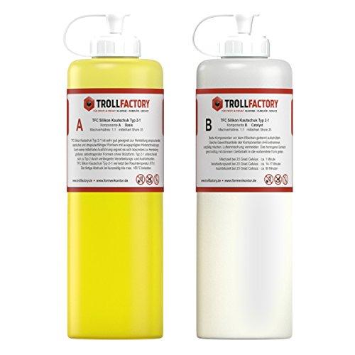 TFC Silikon Kautschuk Typ 2-1 I Dubliersilikon dünnflüssig I mittelhart, 500 g (2 x 250 g)