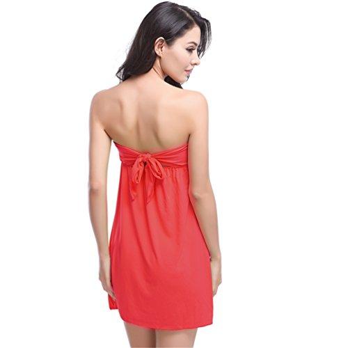 MONICAS - Copricostume - Reggiseno a fascia - Senza maniche  -  donna Red