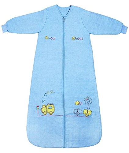 Slumbersac Saco de dormir de bebé Invierno manga larga aprox. 3.5 Tog, trenecito, de 12-36 meses