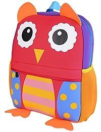 LITTHING Sac à Dos Enfant Mignon Cartable Scolaire Maternelle Mini Imperméable pour Enfant Primaire Petits Garderie PréScolaire Garçons ou Filles Hop Zoo (2-7 Ans)