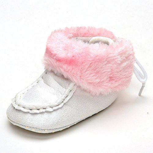 ESTAMICO , Baby Jungen Krabbelschuhe & Puschen Pink rose Weiß