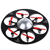 RC Drone Hexacopter 945A 2.4G 4CH 6-Axis Gyro Flying Saucer BLACK RTF Toy