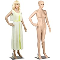 Popamazing Female Full Body Mannequin Adjustable Dummy Shop Window Display Detachable Structure