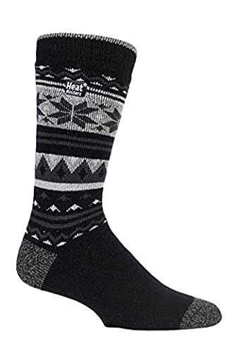 Heat Holders Lite - Mens Winter Warm 1.6 TOG Thermal Casual Socks 6-11 UK (Crowcroft)