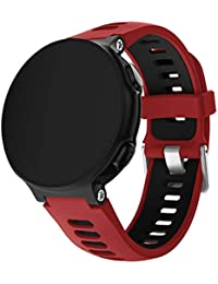 Watches Smart Watch Silicone Wrist Strap Watchband for Garmin Forerunner 735XT(Green) (Color : Red)