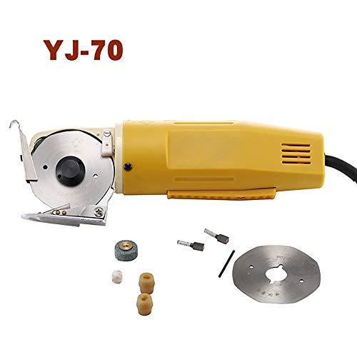 Elektrische Schere mit Ausstecher-Set Schneidemaschine Werkzeug für Kleidung aus Stoff für 70mm, 170W, 220V