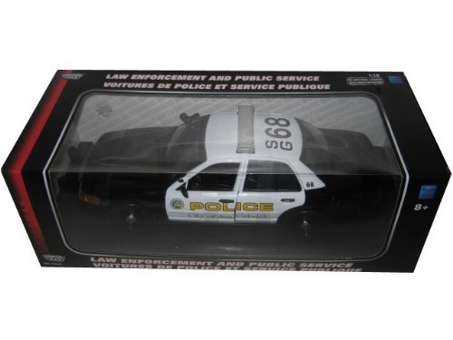 2001 Ford Crown Victoria San Gabriel Police Interceptor 1/18 by Motormax 73538 by Motormax