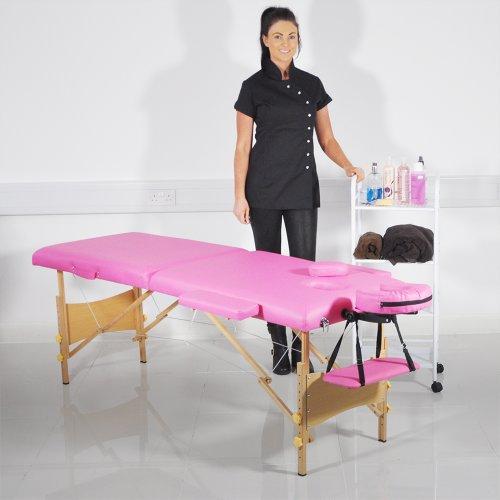 Heaven ® divano-letto, in legno, tavolo da massaggi, colore: rosa