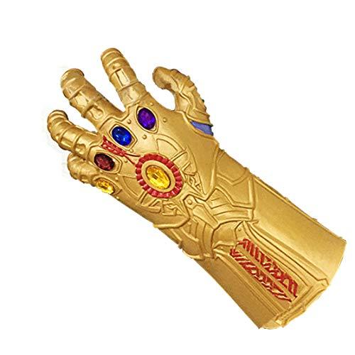 Formwin Halloween Athanasios Handschuhe Marvel Heroes Infinity Gauntlet Kinder Kostüm für Erwachsene Herren Spielzeug Latex Gauntlet Gems