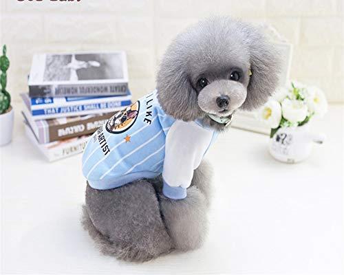 Frühling und Sommer Haustierkleidung Hund T-Shirt Katze Weste Teddy Gesetz blau Baseball Shirt Kleidung 2019 Neue Heimtierbedarf, M -