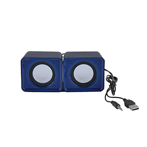 Portátil USB 2.0 Multimedia Ordenador Portátil Notebook Mini Altavoz Música estéreo Home Theater Party Speaker 3.5mm Jack