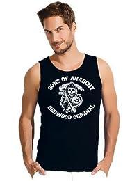Sons of anarchy redwood! débardeur sAMCRO t-sHIRT noir taille s à xXL