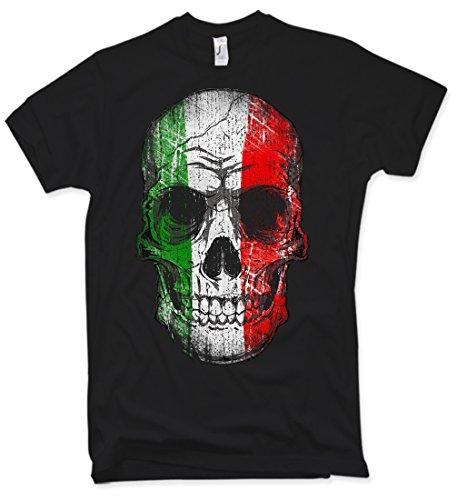 Italy Skull T-Shirt, Italien, Totenkopf, Gr. S – XXL
