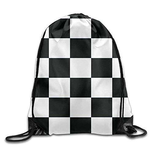 Etryrt Turnbeutel/Bedruckte Sportbeutel, Premium Drawstring Gym Bag Rucksack, Waving Checkered Flag Car Racing Unisex Drawstring Backpack Sack Bag for Gym Sport or Travel Storage
