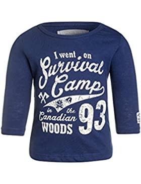 camiseta manga larga azul marino para niño 12 meses