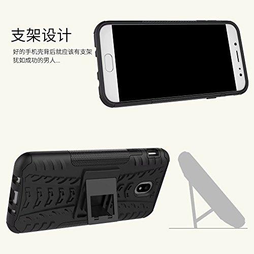 YHUISEN Hyun Pattern Dual Layer Hybrid Armor Kickstand 2 in 1 Shockproof Case Cover für Samsung Galaxy J7 Pro 2017 J730 (Europäische Version) ( Color : Blue ) Pink