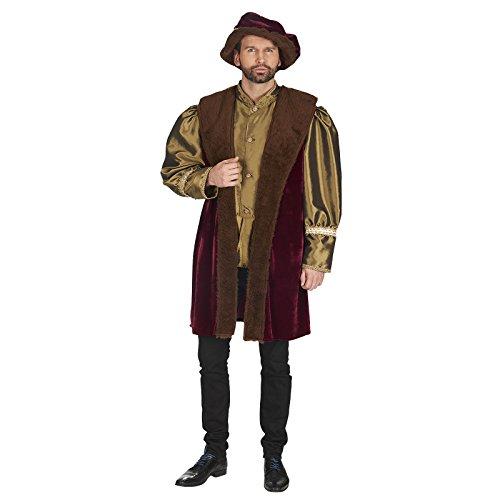 Mantel mit Barett Edler Henry Kostüm für Herren Gr. 54 56 (Renaissance Kostüme)