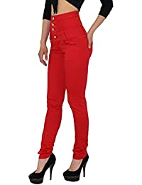 501df18fe32 by-tex Womens Jeans Skinny High Waisted Jeans for Ladies Pants for Girls  Jeggings -