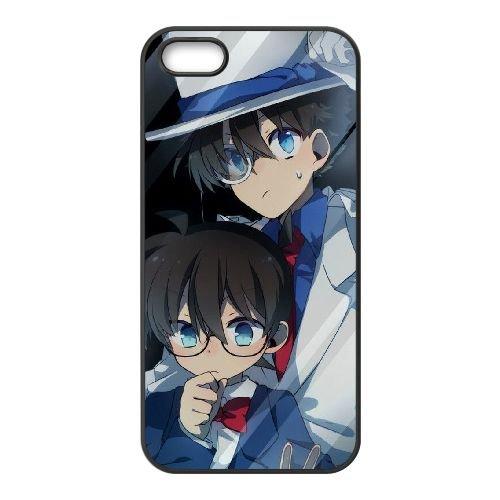 Detective Conan coque iPhone 4 4S Housse téléphone Noir de couverture de cas coque EBDXJKNBO09865