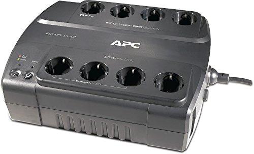 APC Back-UPS ES - BE700G-GR - Unterbrechungsfreie Stromversorgung 700VA (8 Schuko Ausgänge, Überspannungsschutz) -