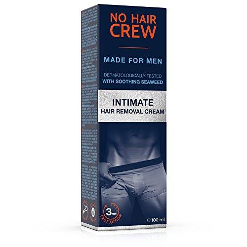 NO HAIR CREW Crème dépilatoire intime pour homme, extra douce, 100ml