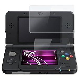 atFoliX Glasfolie kompatibel mit Nintendo New 3DS 2015 Panzerfolie, 9H Hybrid-Glass FX Schutzpanzer Folie (1er Set)