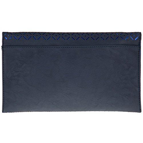 xardi London da donna in pelle sintetica Flat Frizione Donne Designer intagliato Check sera borse Dark Grey