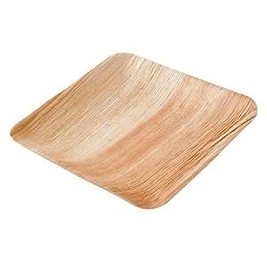 Dtw05359 piatto usa e getta in foglia di palma 25 pezzi for Piede quadrato di 20x20
