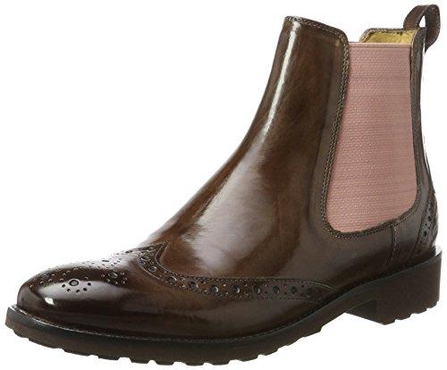 Melvin & Hamilton Damen Amelie 5 Chelsea Boots, Braun (Crust Chestnut, Ela. Rose, Rook D Dk. BRW), 42 EU Chelsea Rose