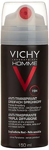 Vichy Homme Triple Diffusion Anti-Transpirant Deodorant 150 ml