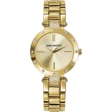 mark-maddox-damen-quarzuhr-mit-gold-zifferblatt-analog-anzeige-und-gold-armband-mf3003-97