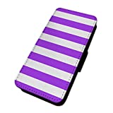 Pretty Purple Streifen – Minimalismus Kunst – Flip Case Wallet Cover Card Holder Samsung Galaxy S4 Mini