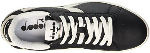 Diadora Game L Low Waxed, Sneaker a Collo Basso Unisex – Adulto Nero (Nero/Bianco/Nero)